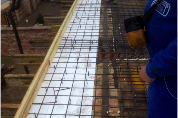 Alapozás betonhálóval