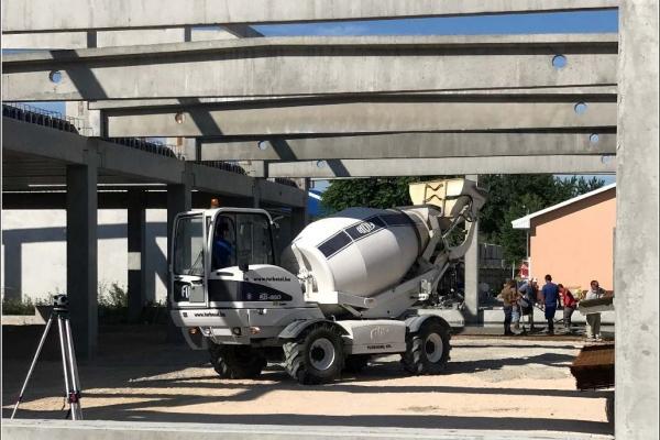 Csarnok betonozás